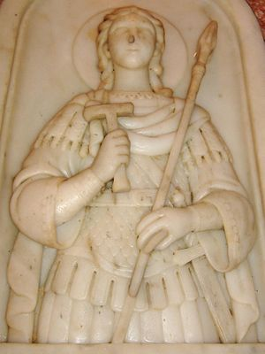 Church of Saint George, Lod - Image: La tomba di San Giorgio (Lod, Israele) 04 particolare del bassorilievo
