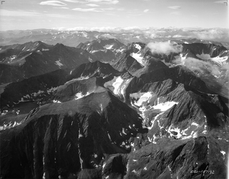 Torngat Mountains - Aerial view of Four Peaks region of Torngat Mountains