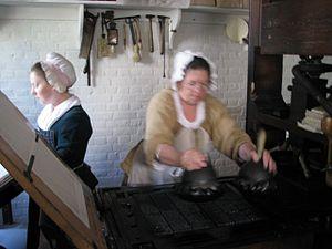 Elizabeth Timothy - Likeness of printing newspapers in eighteenth-century colonial America