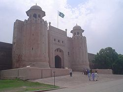 One of the thirteen gates at the Lahore Fort (Pakistan), this one was actually built by Mughal Emperor Aurangzeb himself and named Alamgir