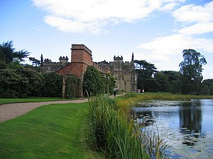 Arbury Canals - Arbury Hall, with the Hall Pool in the foreground