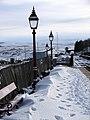 Lamps and snow at Ribblehead Station - geograph.org.uk - 1151134.jpg