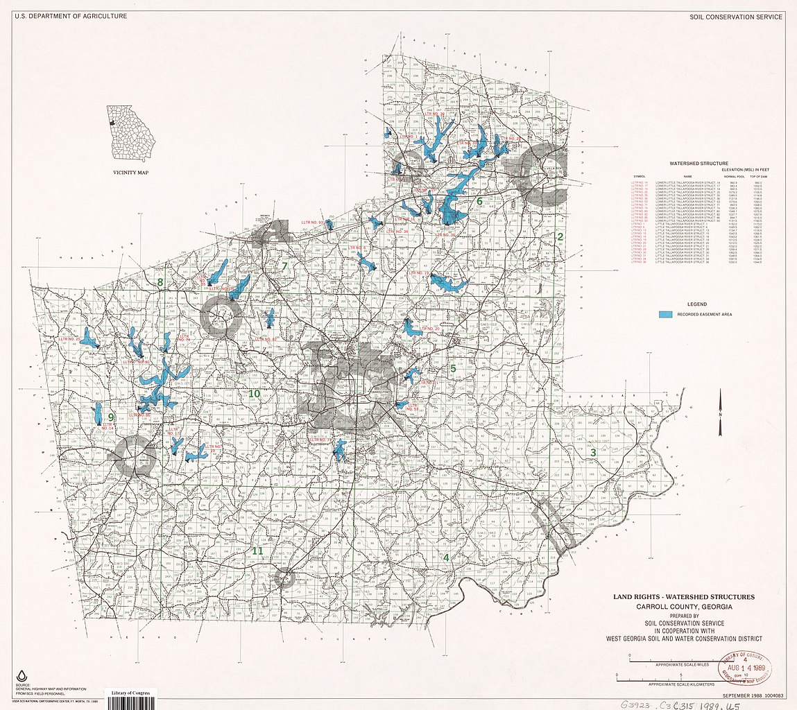 Map Of West Georgia.File Land Rights Watershed Structures Carroll County Georgia Loc