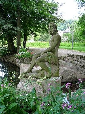 Landolin Ohmacht - Statue of Neptune by Landolin Ohmacht, Fecht Park, Munster, Haut-Rhin