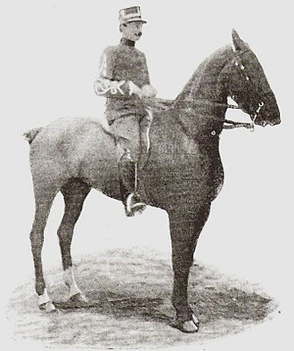 Equestrian at the 1900 Summer Olympics - Constant van Langhendonck, winner of the long jump competition