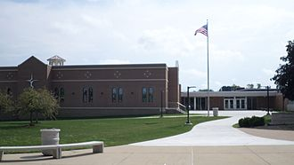 Lansing Catholic High School - The school in September 2015