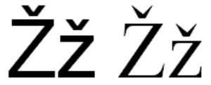 Ž - Image: Latin alphabet Žž