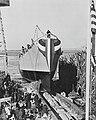 Launch of USS Buckley (DE-51) at the Bethlehem Hingham Shipyard on 9 January 1943 (38330001).jpg