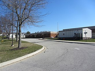 Howard County Public School System - Laurel Woods Elementary surrounded with modular classrooms