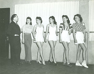 LeRoy Prinz - LeRoy Prinz and dancers at Paramount