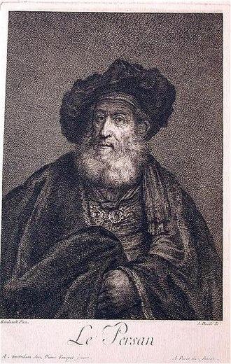 Jean Daullé - The Persian, after Rembrandt