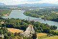 Le Rhône, vu de la montagne St Michel.JPG