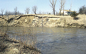 Le Sueur River - The Le Sueur River in Blue Earth County in 1996