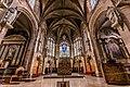 Le chœur de la cathédrale du Havre dans l'abside et les chapelles d'absidioles.jpg