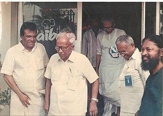 E. K. Imbichi Bava - E. K. Imbichi Bava with E. M. S. and V. S. Achuthanandan