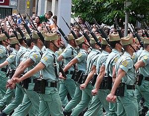 Spanish Legion - The legion on parade