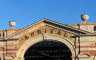 Leicester railway station - Detail of frontage