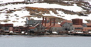 Leith Harbour - A portion of the abandoned whaling station at Leith Harbour.