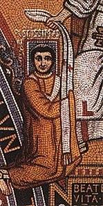 Leo III.  on a mosaic