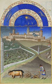 March, from the Très riches heures du duc de Berry