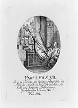 "The ""miracle"" of Pius VII in 1811 (Source: Wikimedia)"