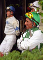"Lexington Kentucky - Keeneland Jockeys ""Jorge Chavez & Javier Castellano(Blue)"" (2144393747) (2).jpg"