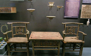 Fangshan District - Liao Dynasty (907−1125) furniture excavated from an underground palace in Fangshan District of Beijing