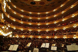 Liceu - Interior of the Gran Teatre del Liceu after the 1999 rebuilding