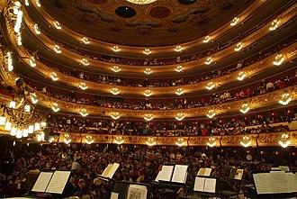 Liceu - Interior of the Gran Teatre del Liceu after the 1999 rebuilding