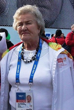 Lidiya Skoblikova - Skoblikova at the Winter Olympic Games 2014 in the Olympic Park of Sochi.