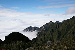 Hoang Lien Son mountain range. Picture taken f...