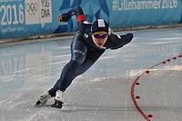 Lillehammer 2016 - Speed skating Men's 500m race 2 - Min Seok Kim.jpg