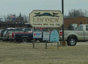 Linden, Indiana - Image: Linden sign