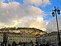 Lisboa, Sao Jorge Castle at dusk (3932682696).jpg