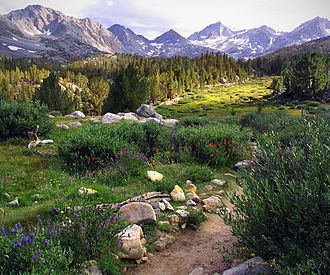 Geography of California - Little Lakes Valley in the eastern Sierra Nevada