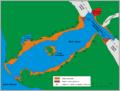 Lituya Bay schemat zniszczen po tsunami-fr.png