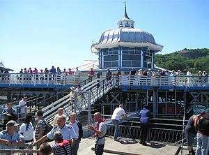 Llandudno Pier - Pier head and landing stage viewed from the deck of the MV Balmoral on 14 July 2006