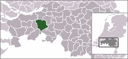 Location of Breda, The Netherlands
