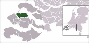 Kortgene - Image: Locatie Noord Beveland