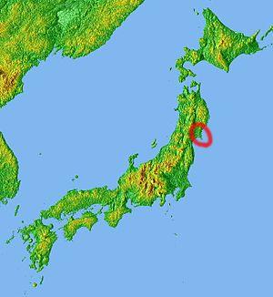 Oshika Peninsula - Image: Location Ojika Peninsula Jp