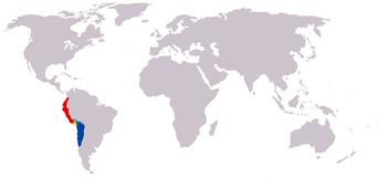 Límites del Imperio Inca: por el norte llegaba hasta Pasto (Colombia) y por el sur hasta Constitución (Chile), en el río Maule.