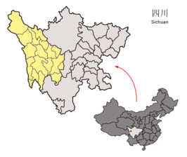 Location of Garzê Prefecture within Sichuan (China).png