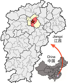 Location of Nanchang within Jiangxi.jpg