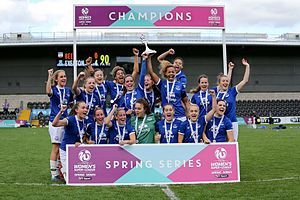 Everton L.F.C. - Everton celebrates winning the FA WSL 2 Spring Series