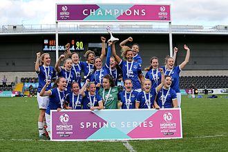 Everton L.F.C. - Everton celebrates winning the FA WSL 2 Spring Series