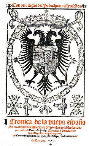 Francisco López de Gómara - Cover of 1555 book