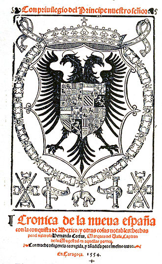 Francisco López de Gómara - Cover of 1555 book