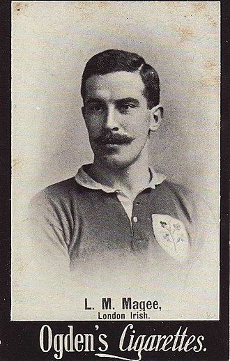 Irish Rugby Football Union - Louis Magee and the 4 sprig shamrock