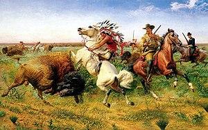 Louis Maurer - Image: Louis Maurer The Great Royal Buffalo Hunt 1895
