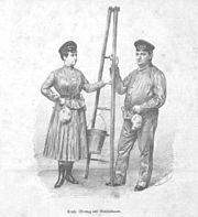 Louise Montag und Edmund Guschelbauer 1885 Eigner